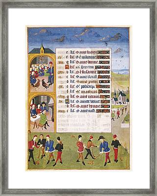 Adelaida De Saboya, Maestro De15th C Framed Print by Everett