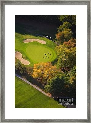 Aerial Image Of A Golf Course. Framed Print