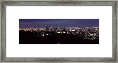Aerial View Of A Cityscape, Griffith Framed Print