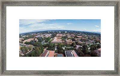 Aerial View Of Stanford University Framed Print by Panoramic Images