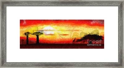 Africa Sunset Framed Print