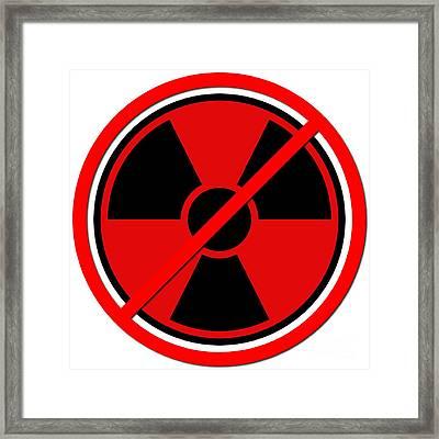 Against Atom Framed Print