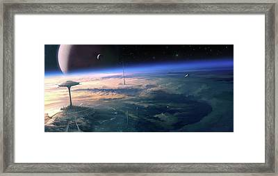 Alien Civilisation Framed Print by Gary Tonge / Science Photo Library