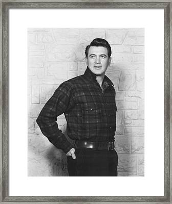 All That Heaven Allows, Rock Hudson Framed Print by Everett