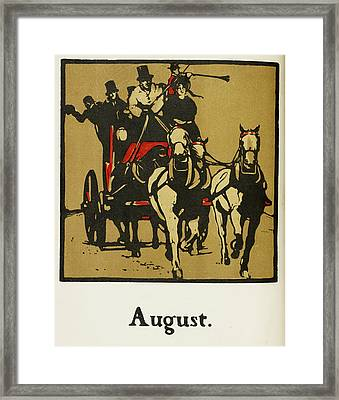 Almanac Of Sports For 1897 Framed Print by British Library