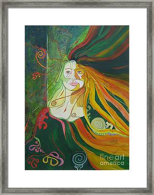 Framed Print featuring the painting Alter Ego by Diana Bursztein