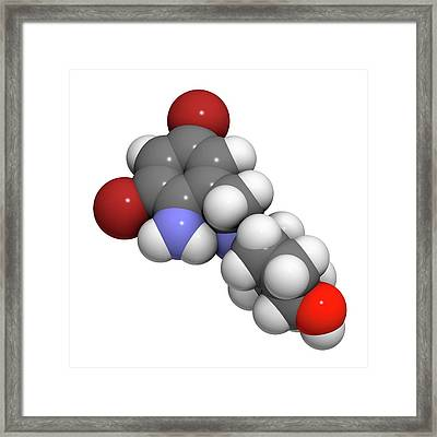 Ambroxol Secretolytic Drug Molecule Framed Print by Molekuul