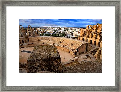 Amphitheatre Of El Djem. 238. Tunisia Framed Print