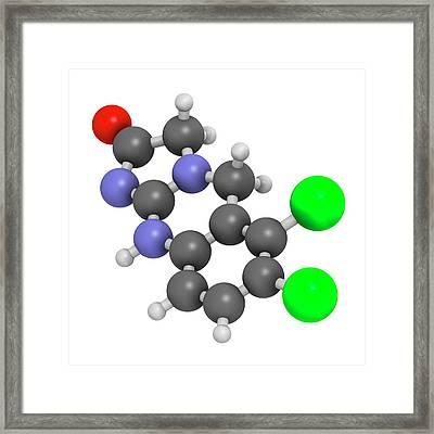 Anagrelide Thrombocytosis Drug Molecule Framed Print