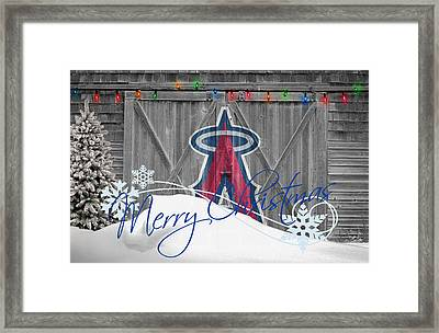 Anaheim Angels Framed Print by Joe Hamilton