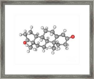 Androstenedione Hormone Molecule Framed Print by Laguna Design