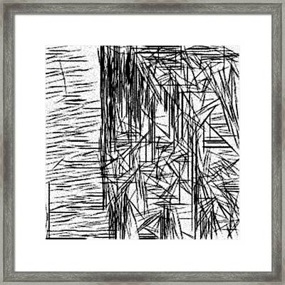 Anonymous Abstraction Framed Print