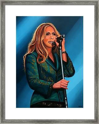 Anouk Painting Framed Print by Paul Meijering