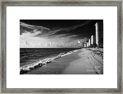 Apartments Hotels And Beachfront Developments Fort Lauderdale Beach Florida Usa Framed Print by Joe Fox