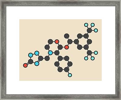 Aprepitant Antiemetic Drug Molecule Framed Print by Molekuul