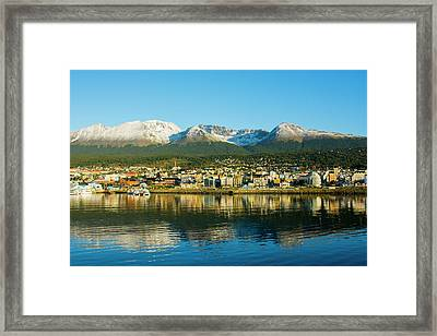 Argentina Tierra Del Fuego Ushuaia Framed Print by Inger Hogstrom
