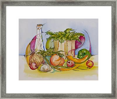 4. It's All Good For You Framed Print by Elaine Wilson