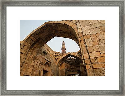 Asia, India Qutb Mosque, New Delhi Framed Print by Emily Wilson