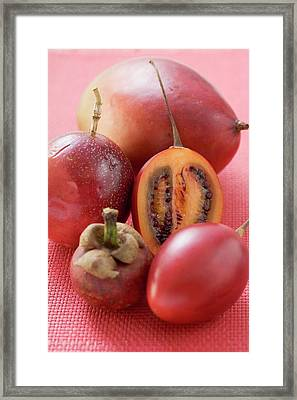 Assorted Exotic Fruits Framed Print