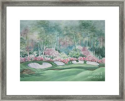 Augusta National 13th Hole Framed Print by Deborah Ronglien