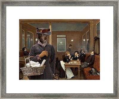 Australian Kelpie Art Canvas Print Framed Print by Sandra Sij