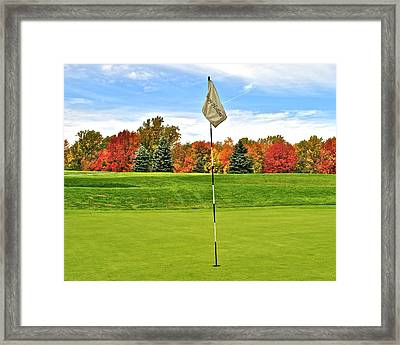 Autumn Golf Framed Print