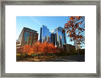 Autumn In Boston Framed Print