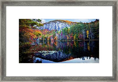 Bald Rock Mountain Nc Framed Print
