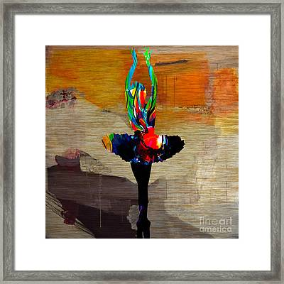 Ballerina Framed Print by Marvin Blaine