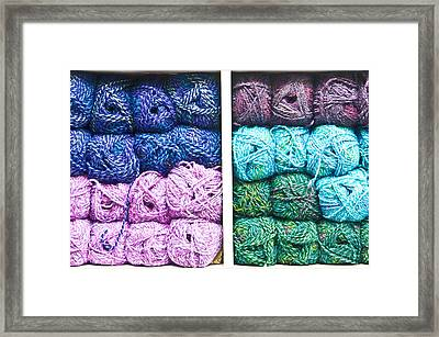 Balls Of Wool Framed Print by Tom Gowanlock