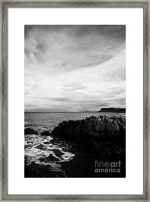 Ballycastle Beach In Winter County Antrim Northern Ireland Framed Print by Joe Fox