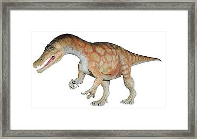 Baryonyx Dinosaur Model Framed Print by Natural History Museum, London/science Photo Library