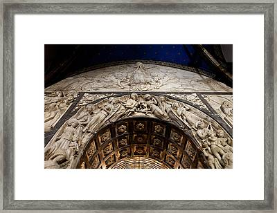 Basilica Interior Of The Montserrat Monastery In Catalonia Framed Print
