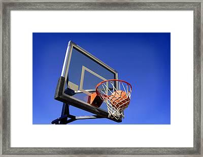 Basketball Shot Framed Print by Lane Erickson
