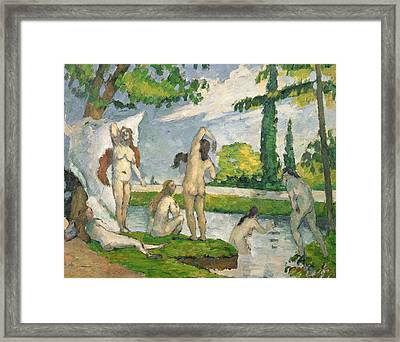Bathers Framed Print by Paul Cezanne