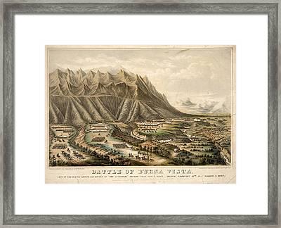Battle Of Buena Vista, 1847 Framed Print by Granger