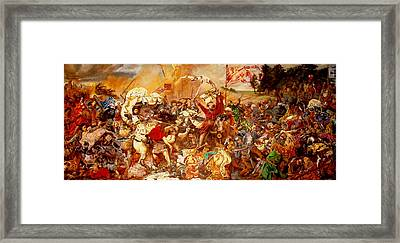Framed Print featuring the painting Battle Of Grunwald by Henryk Gorecki