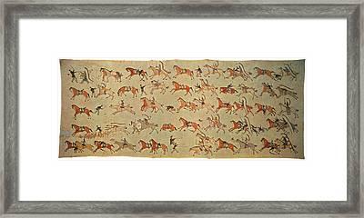 Battle Of Little Bighorn Framed Print by Granger