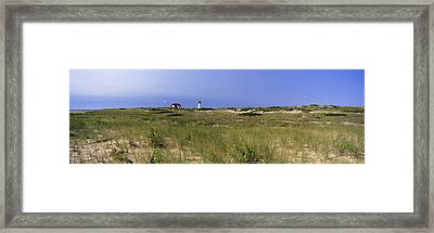 Beach With Lighthouse Framed Print by Panoramic Images