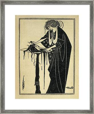Beardsley, Aubrey Vincent 1872-1898 Framed Print by Everett