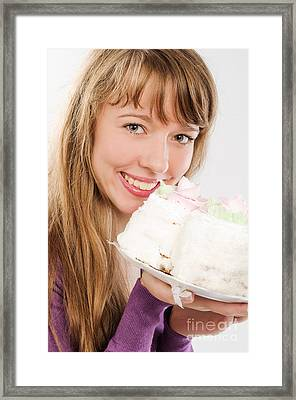 Beautiful Girl With Candy Framed Print by Nikita Buida