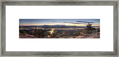 Bend From Pilot Butte In Evening Framed Print