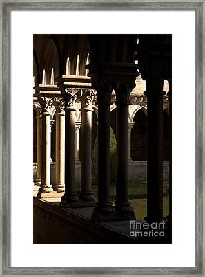 Benedictine Gothic Cloister Framed Print by Jose Elias - Sofia Pereira