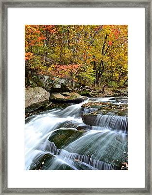Berea Falls Framed Print by Frozen in Time Fine Art Photography