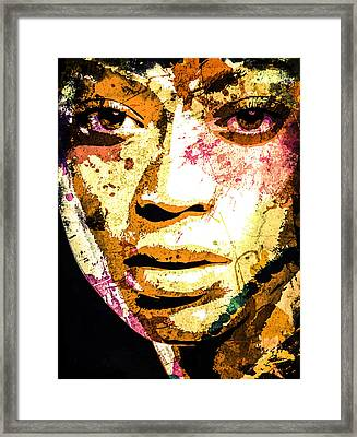 Beyonce Framed Print by Svelby Art