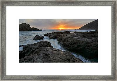 Big Sur Sunset Framed Print by Stephen  Vecchiotti
