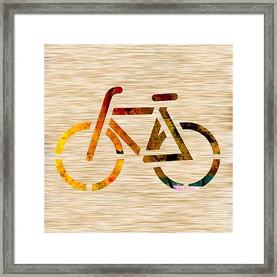 Bike Framed Print by Marvin Blaine