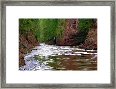 Black River Framed Print by Pat Now