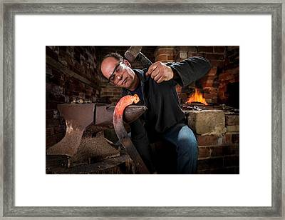 Blacksmith At Work Framed Print by Aberration Films Ltd
