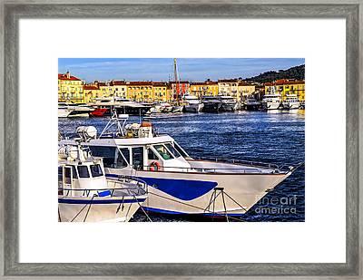 Boats At St.tropez Framed Print